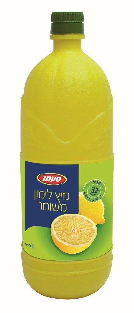 מיץ לימון פלסטיק 1 ל
