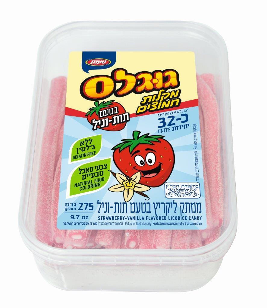 מקלות חמוצים תות וניל 275 ג