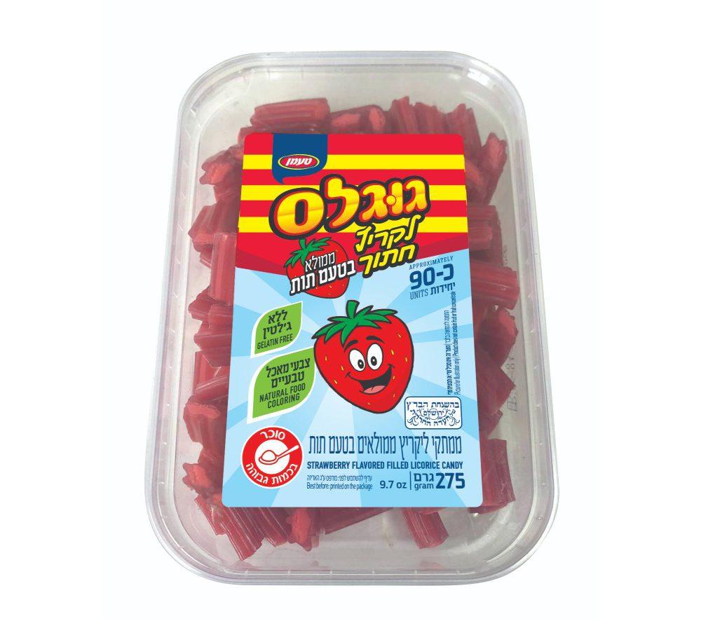 ליקריץ חתוך בטעם תות 275 גרם